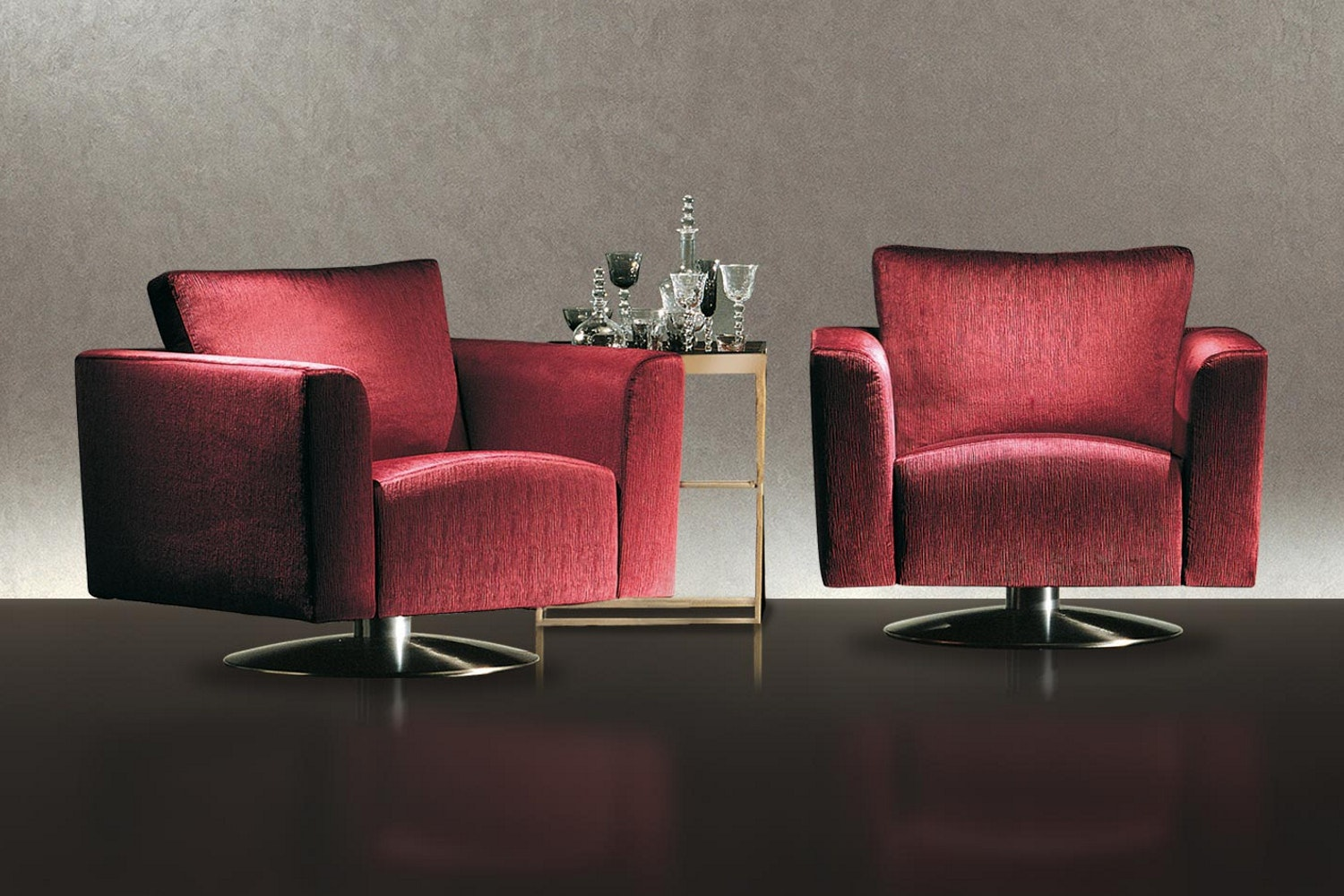 Kelly Swivel Armchair by Antonello Mosca for Giorgetti