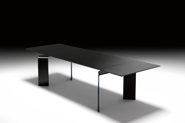 Ray Plus Black Extension Table by Bartoli Design for Fiam Italia