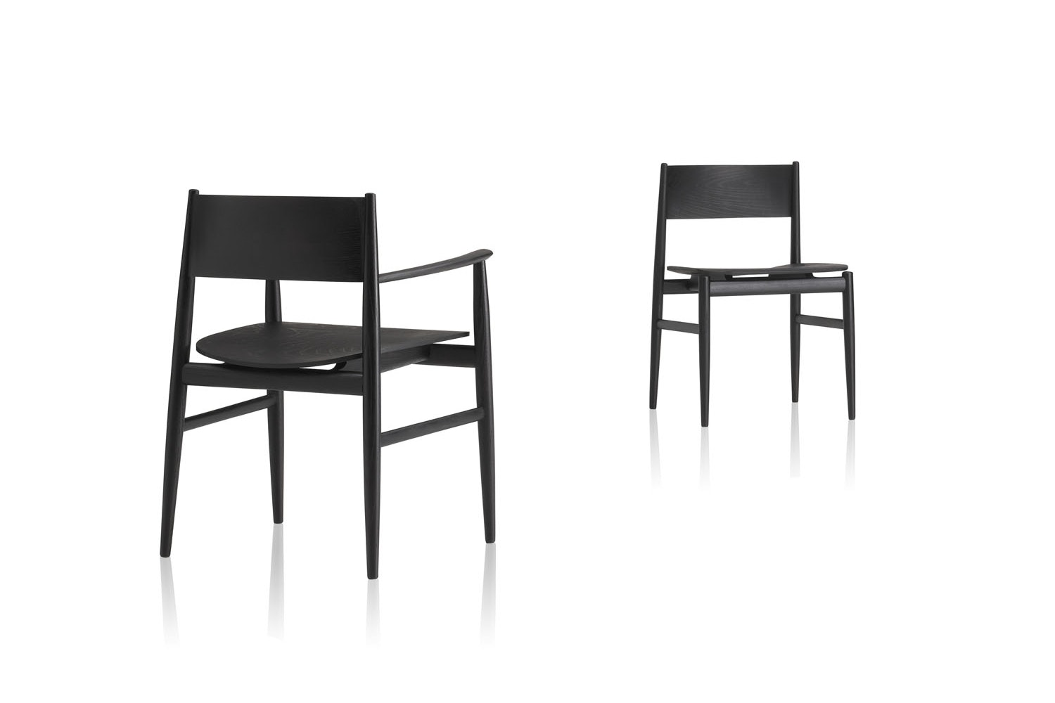 Neve Chair with Arms by Piero Lissoni for Porro