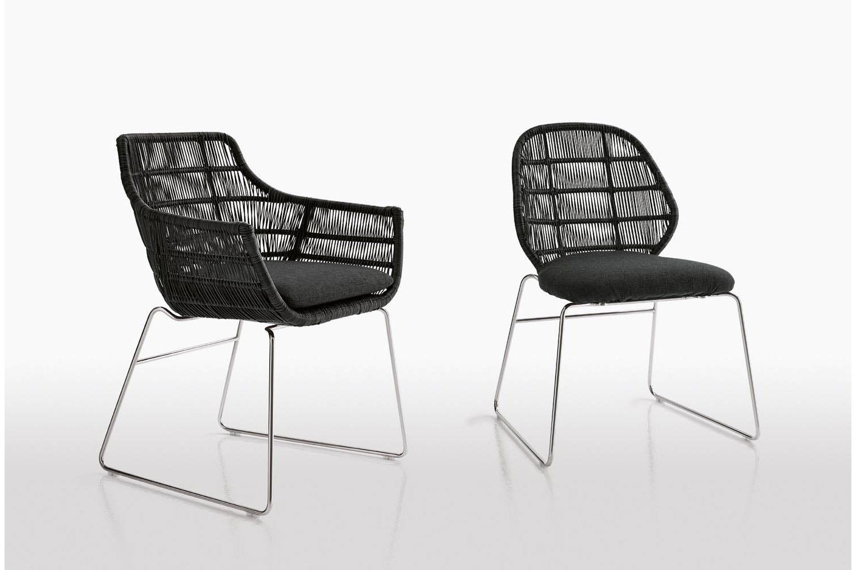 Crinoline Chair Sled Base by Patricia Urquiola for B&B Italia