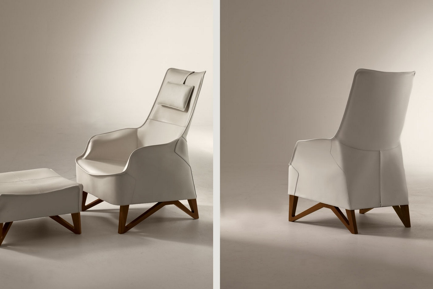 Mobius 2012 Armchair & Ottoman by Umberto Asnago for Giorgetti