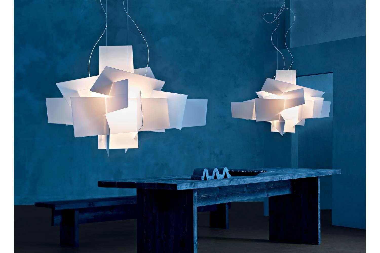 big bang suspension lamp white by enrico franzolini. Black Bedroom Furniture Sets. Home Design Ideas