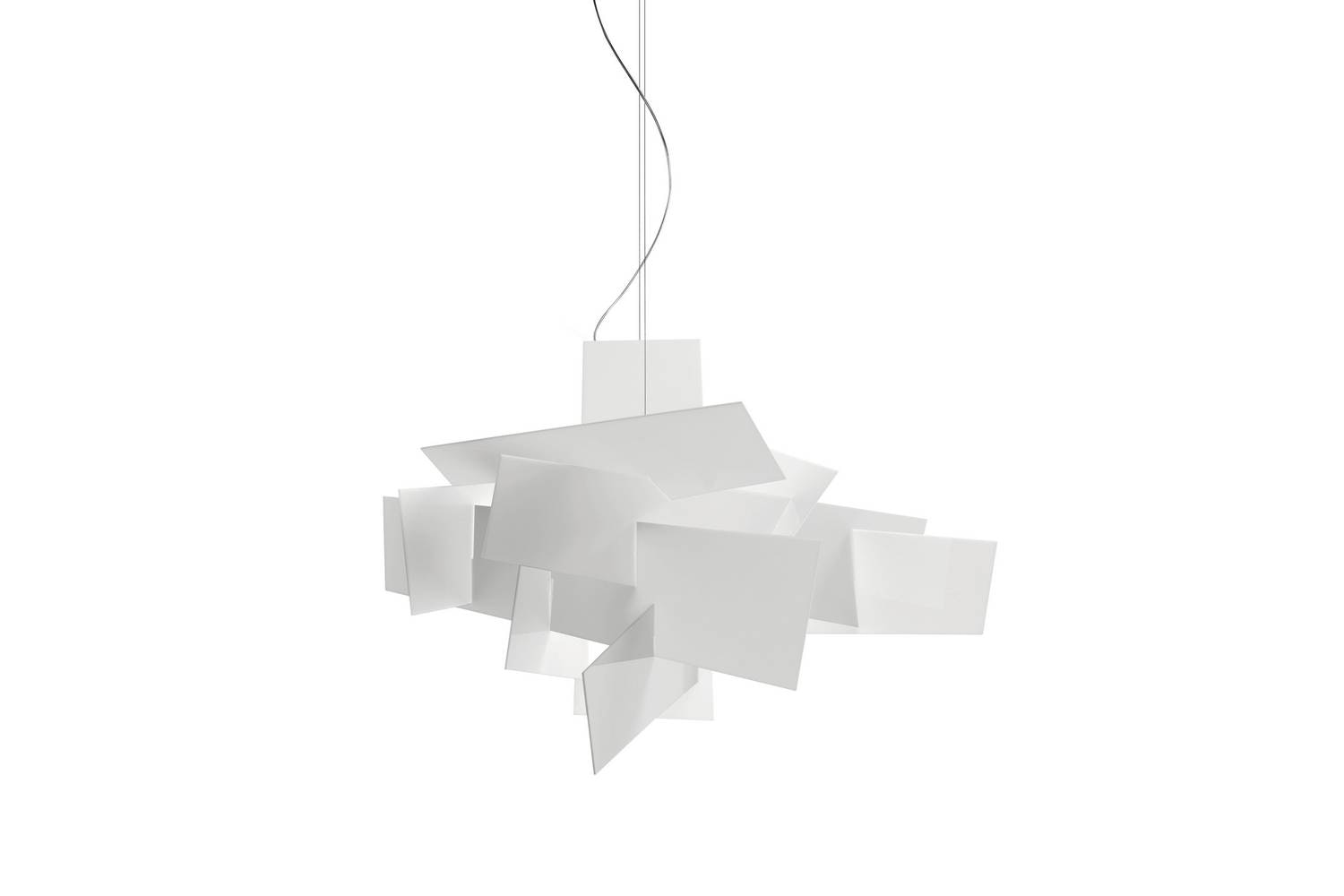 Big Bang Suspension Lamp White by Enrico Franzolini & Vicente Garcia Jimenez for Foscarini