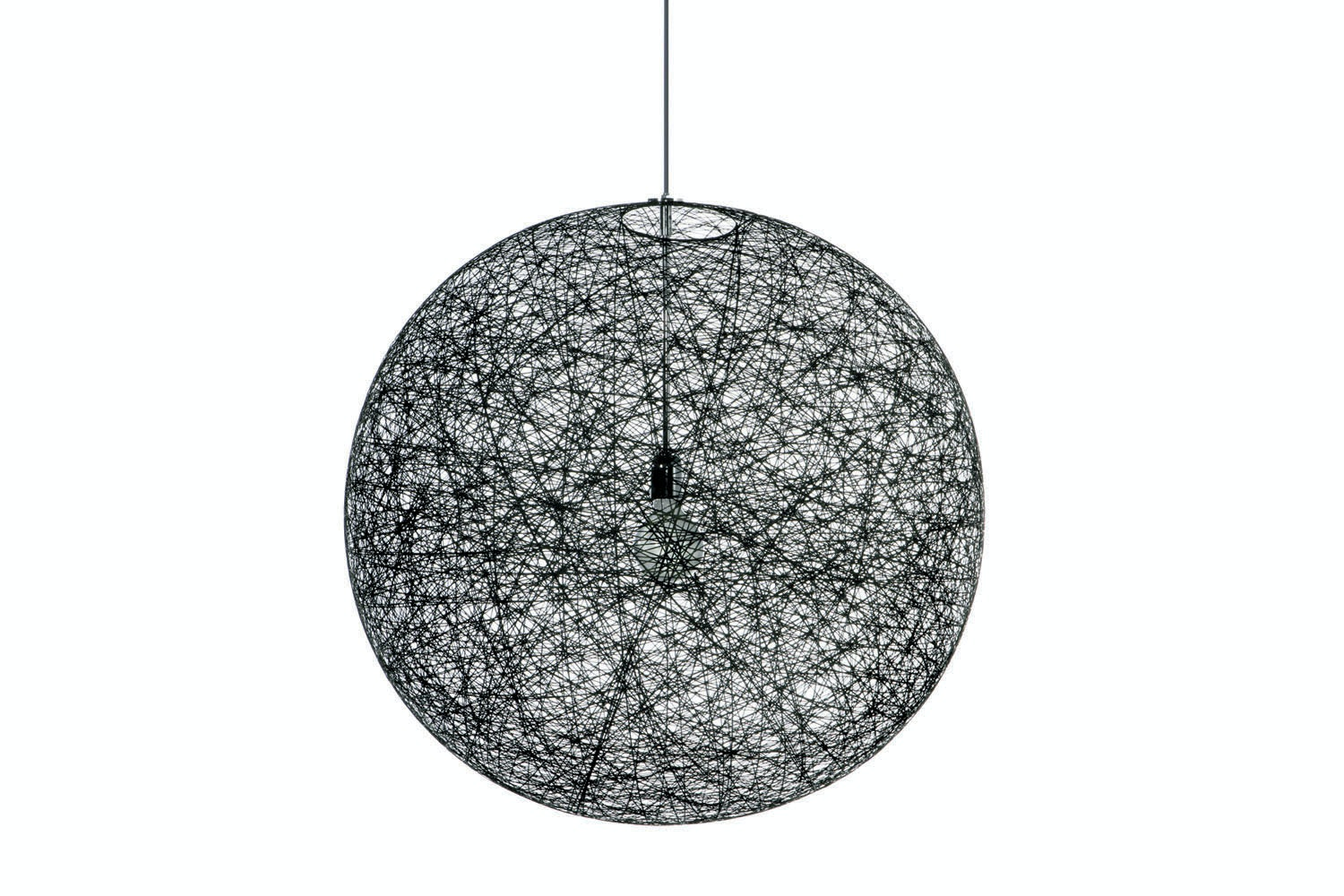 Random Light Medium Black Suspension Lamp by Bertjan Pot for Moooi