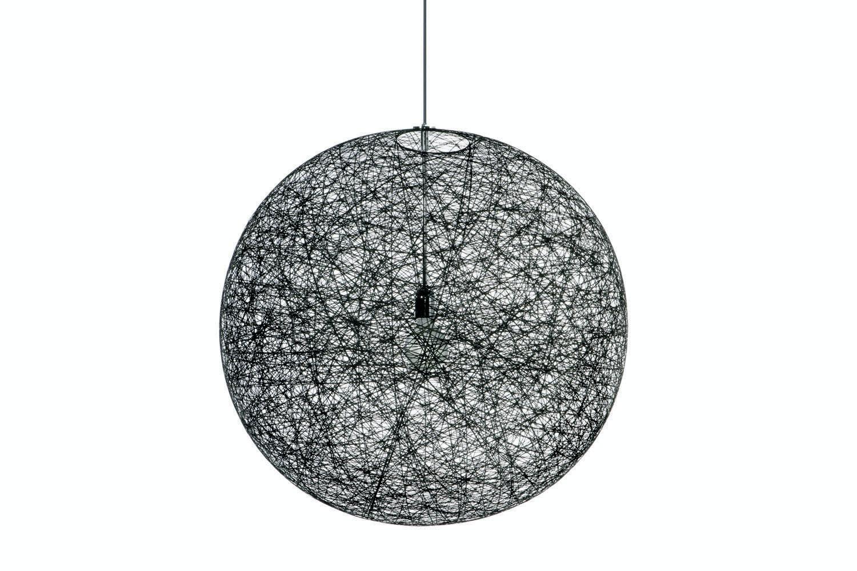 Random Light Medium Black Suspension Lamp by Bertjan Pot for Moooi