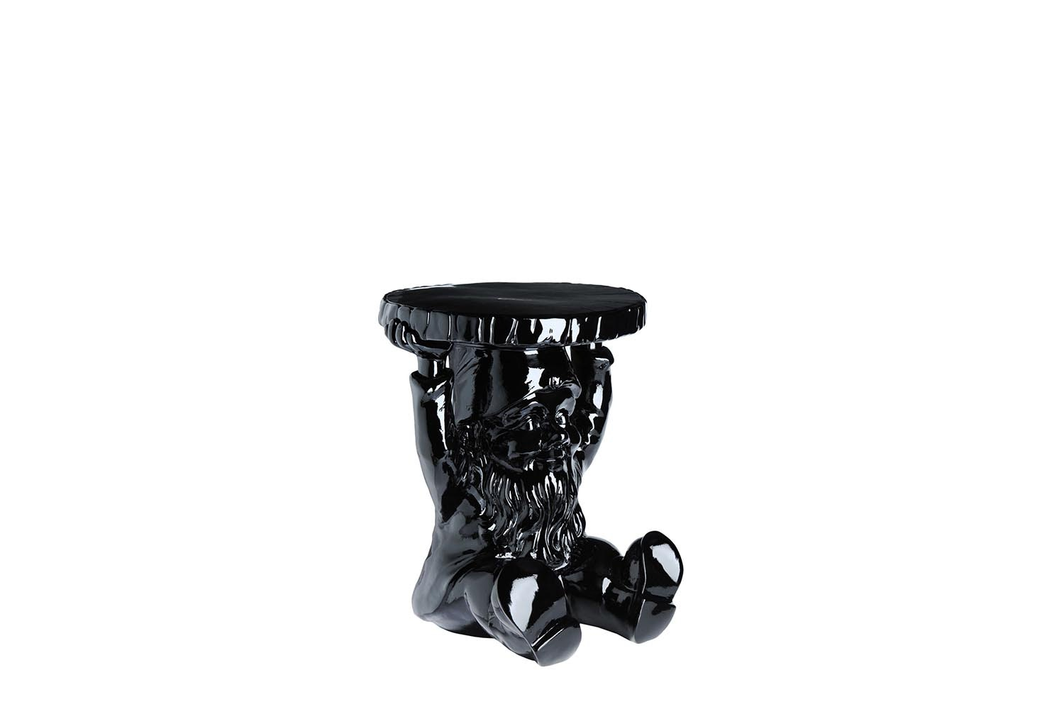 Gnomes Black Stool by Philippe Starck for Kartell