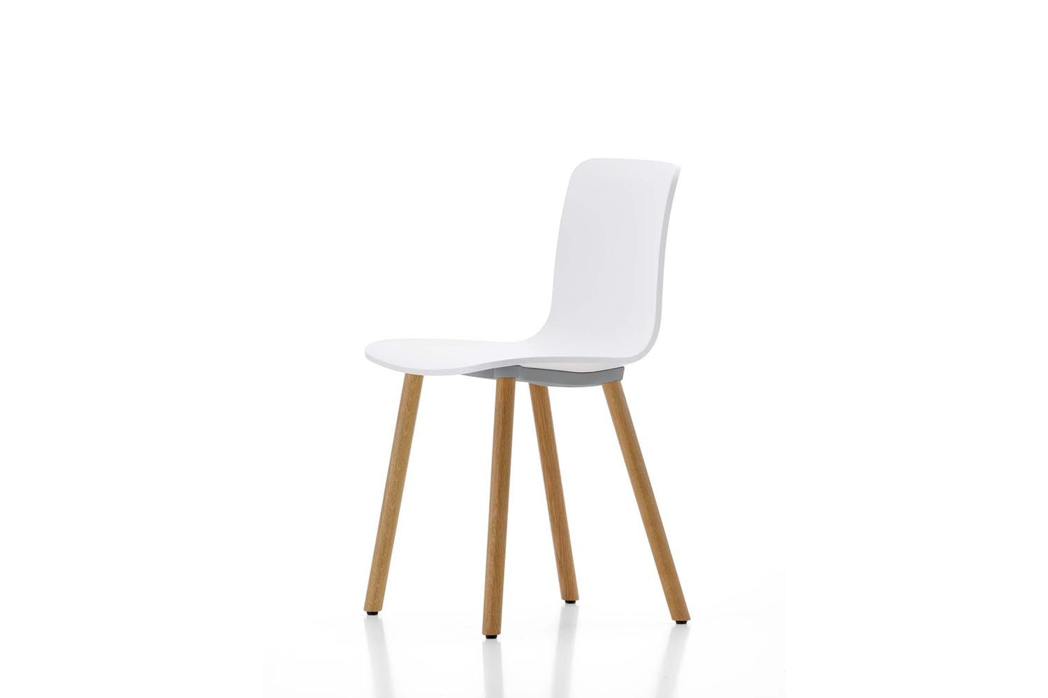 HAL Wood Chair in White by Jasper Morrison for Vitra