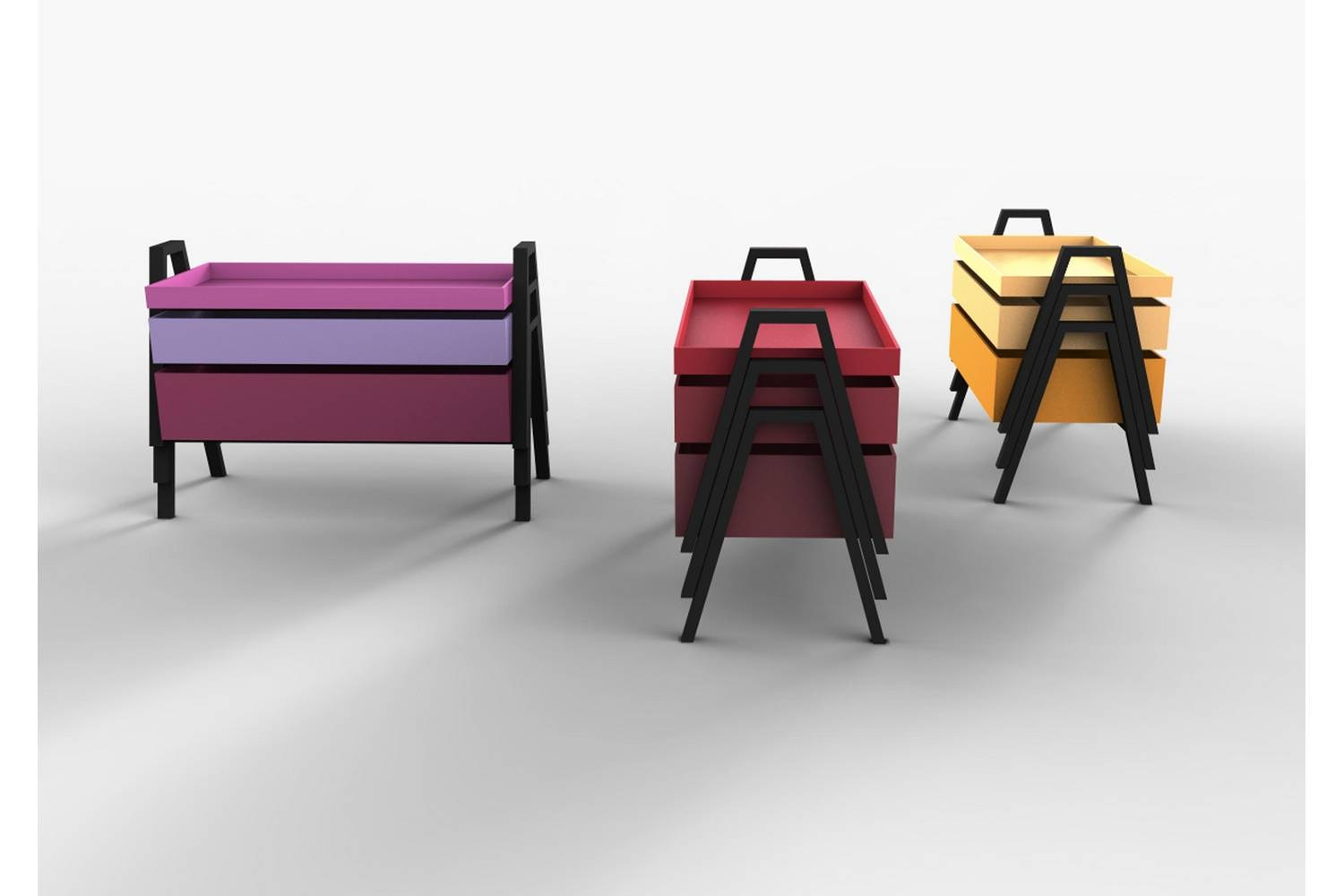 Stack Set of Coffee Tables by Nathan Yong for Living Divani