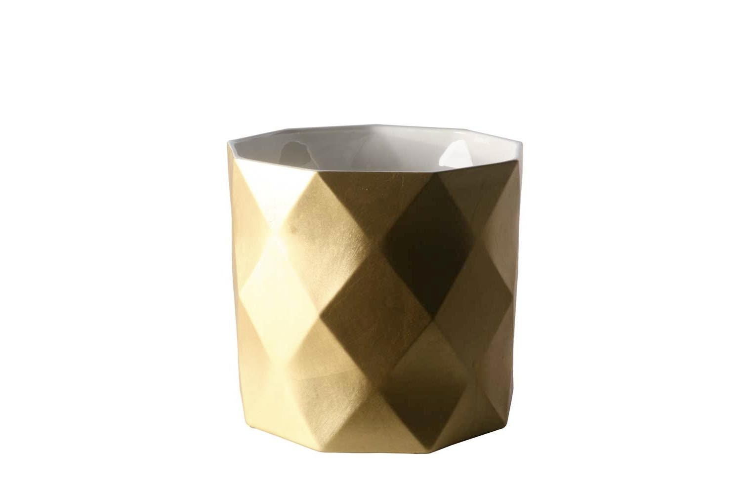 Joker Low Vase in Gold or Silver by Nicole Aebischer for B&B Italia