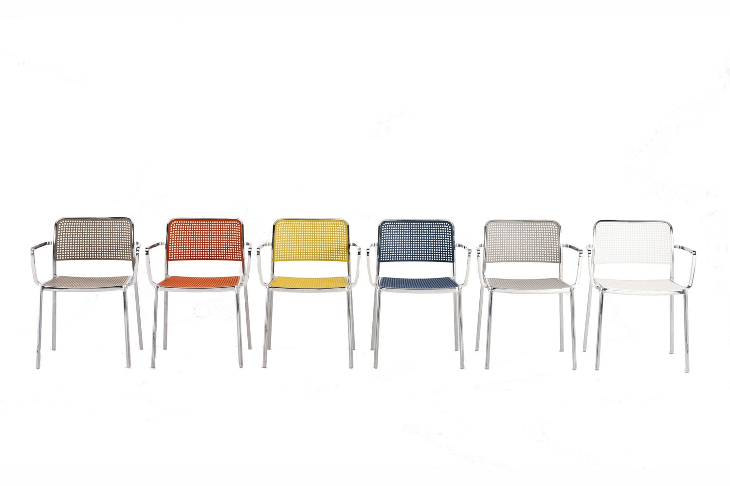 Audrey Shiny Chair with Arms by Piero Lissoni for Kartell