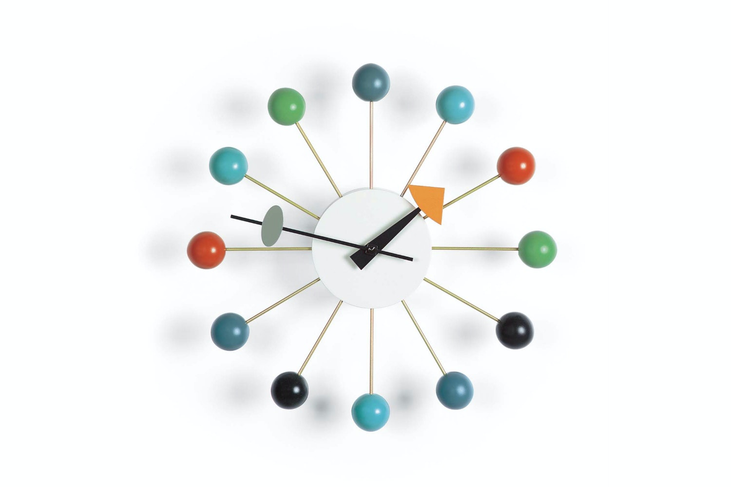 Ball Clock - Multicoloured by George Nelson for Vitra