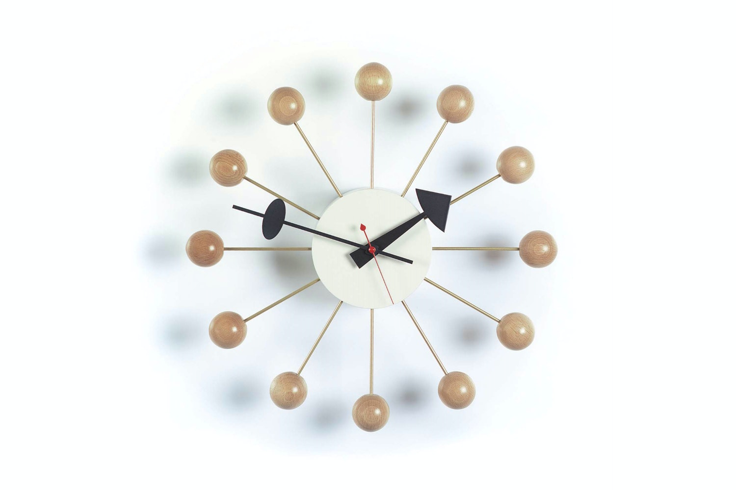 Ball Clock - Natural by George Nelson for Vitra
