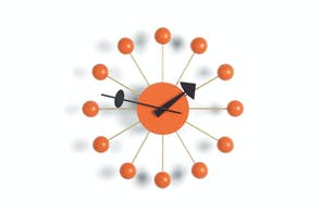 Ball Clock - Orange by George Nelson for Vitra