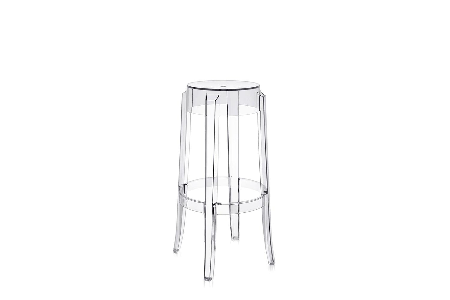 Charles Ghost High Stool by Philippe Starck for Kartell