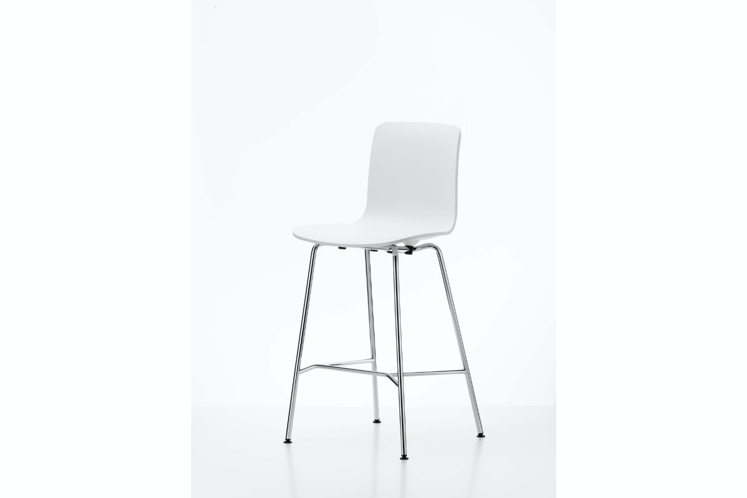 HAL Stool Medium in White by Jasper Morrison for Vitra