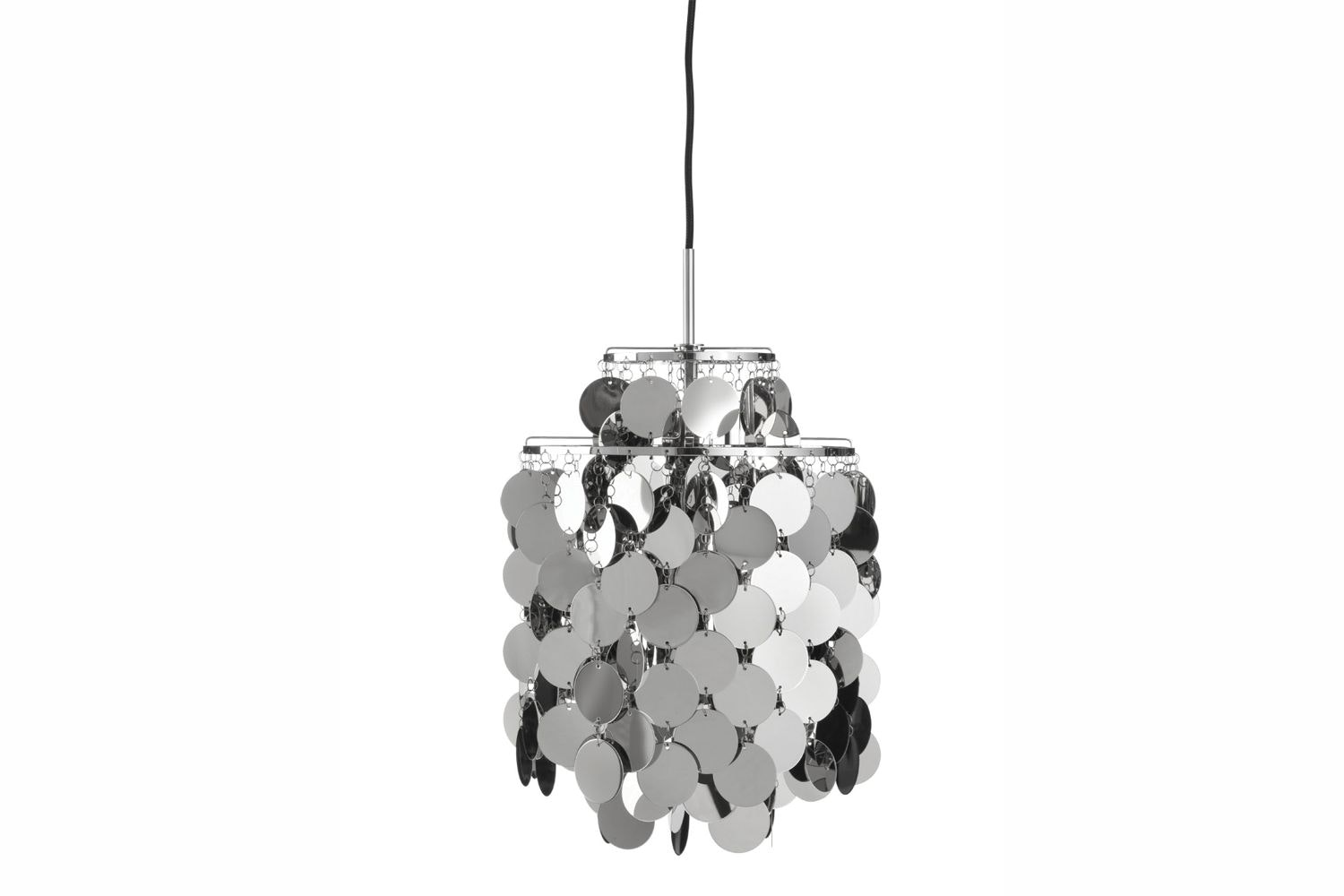 Fun Metal Small Pendant Lamp by Verner Panton for Verpan