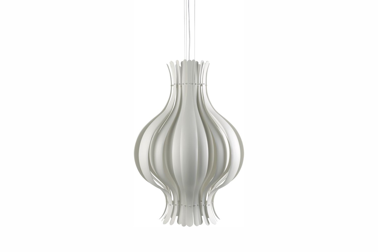 Onion Large Pendant Lamp in White by Verner Panton for Verpan
