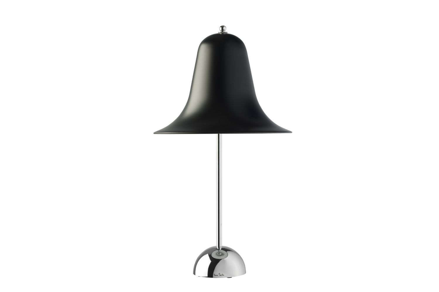 Pantop Table Lamp in Black by Verner Panton for Verpan