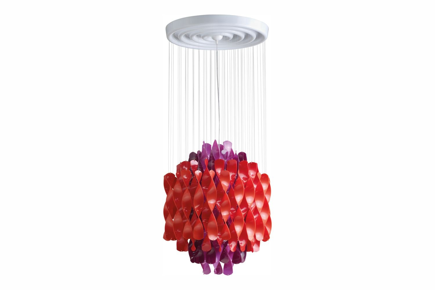 Spiral Small Suspension Lamp in Multicolour by Verner Panton for Verpan