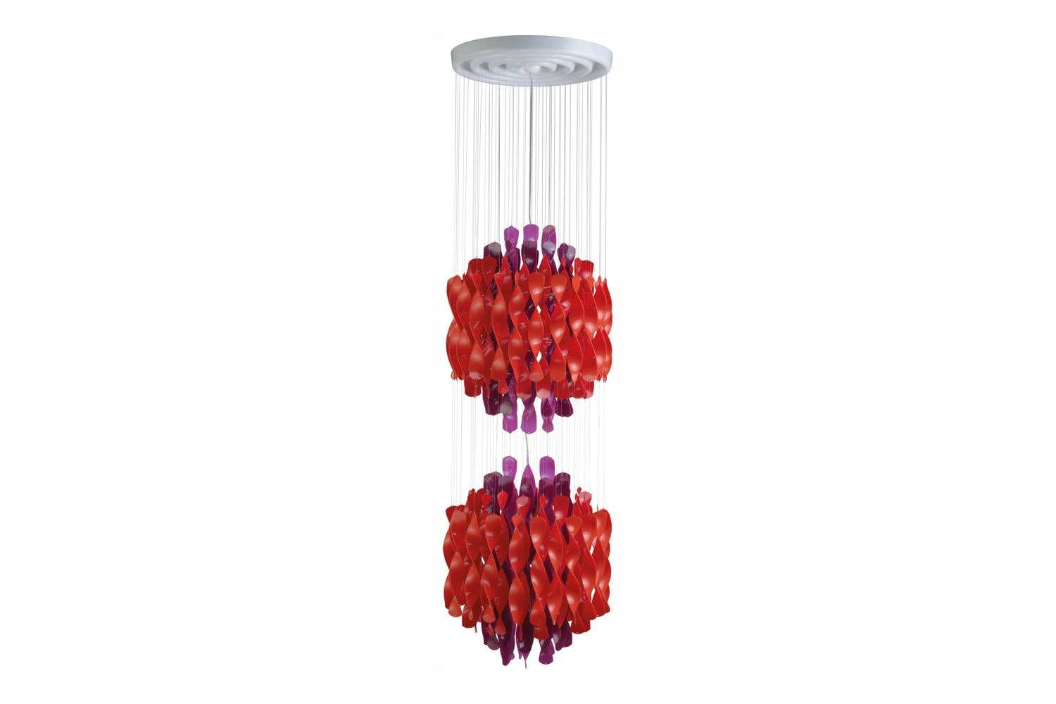 Spiral Medium Suspension Lamp in Multicolour by Verner Panton for Verpan