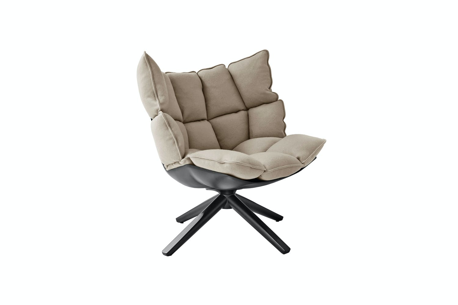 Husk Swivel Armchair With Snug Sides By Patricia Urquiola For Bb