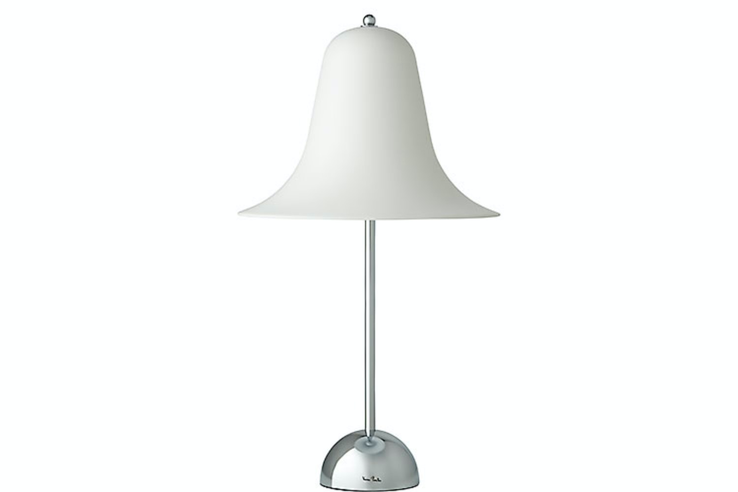 Pantop Table Lamp in White by Verner Panton for Verpan