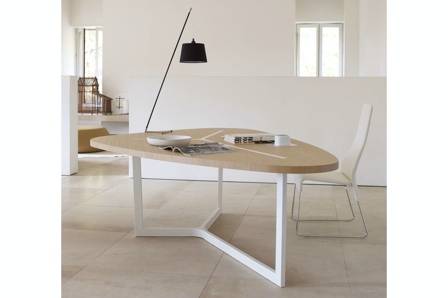 Seven Table in Light Oak by Jean-Marie Massaud for B&B Italia