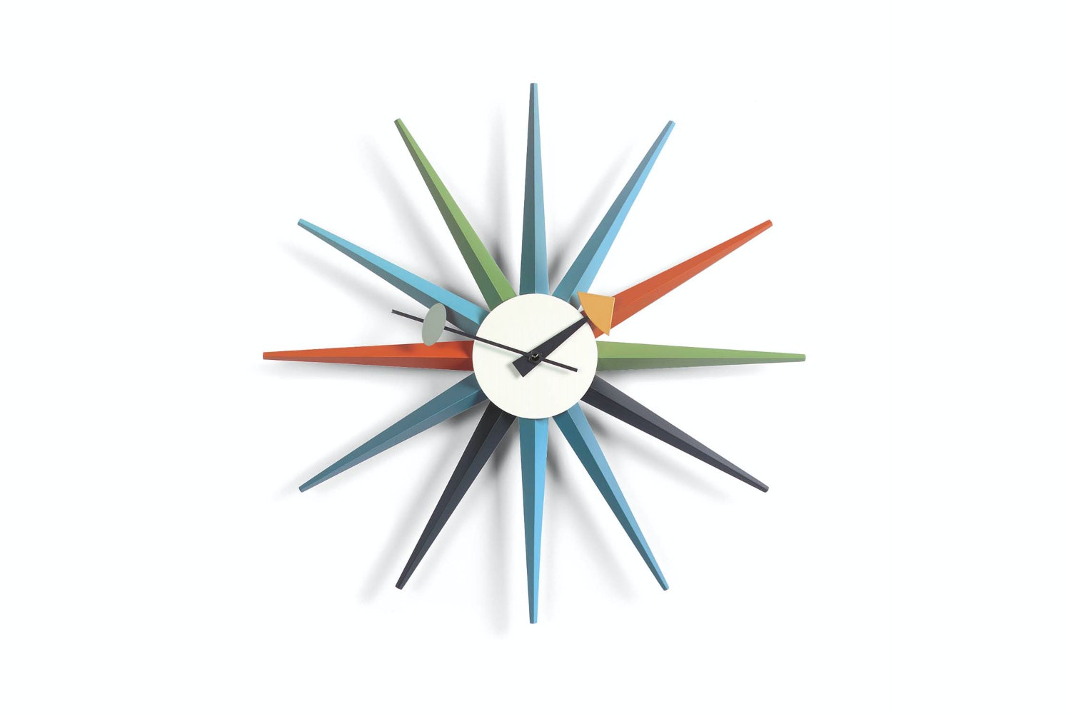 Sunburst Clock - Multicoloured by George Nelson for Vitra