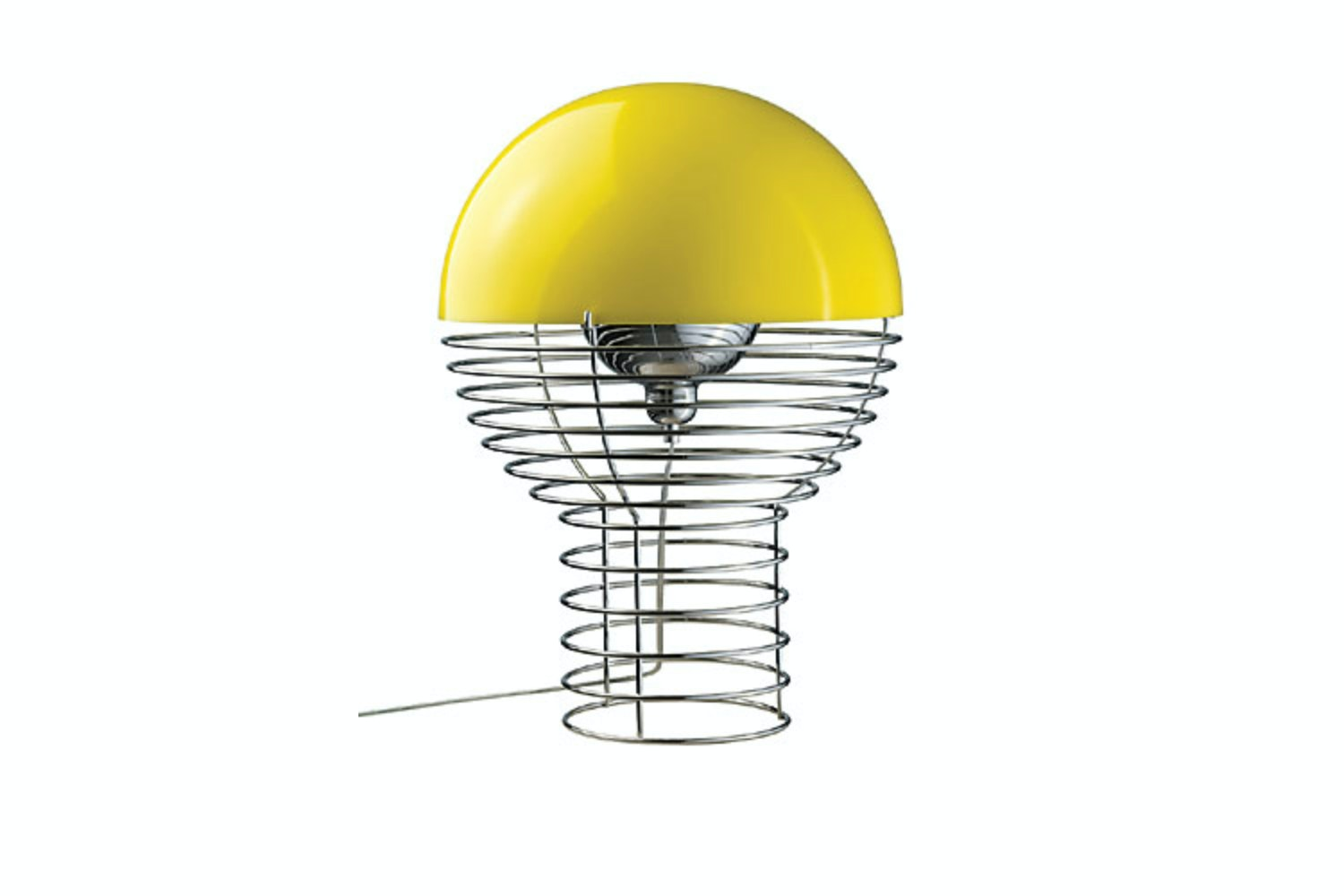 Wire Large Table Lamp in Yellow by Verner Panton for Verpan