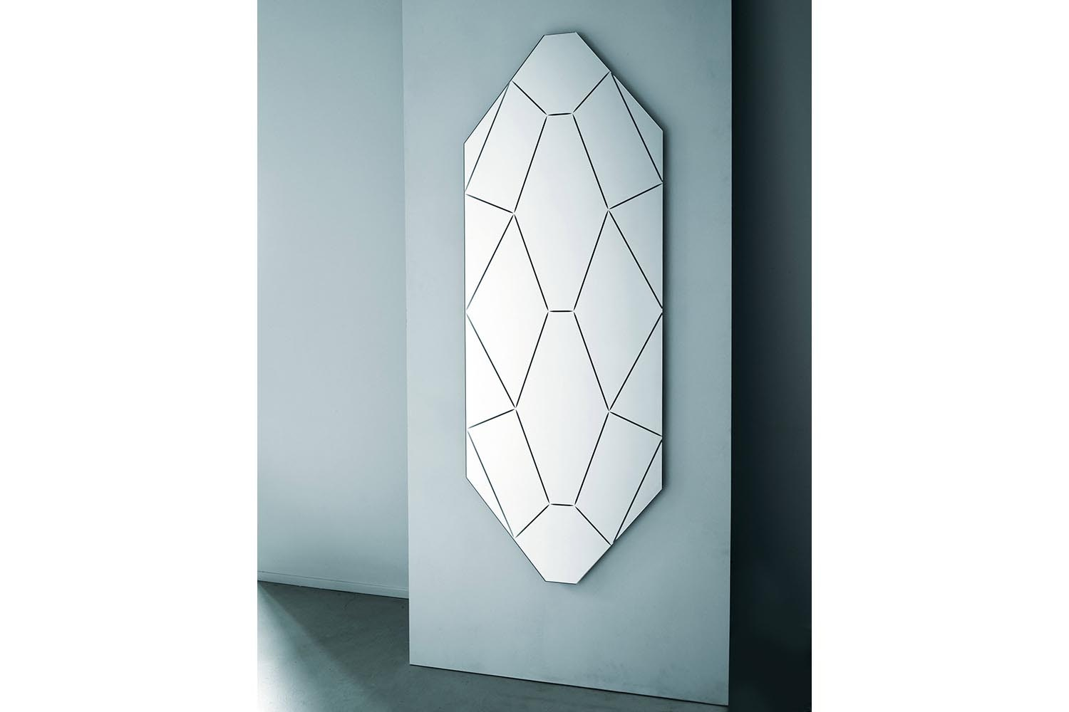 Brillante Tall Mirror by Alessandro Mendini for Glas Italia