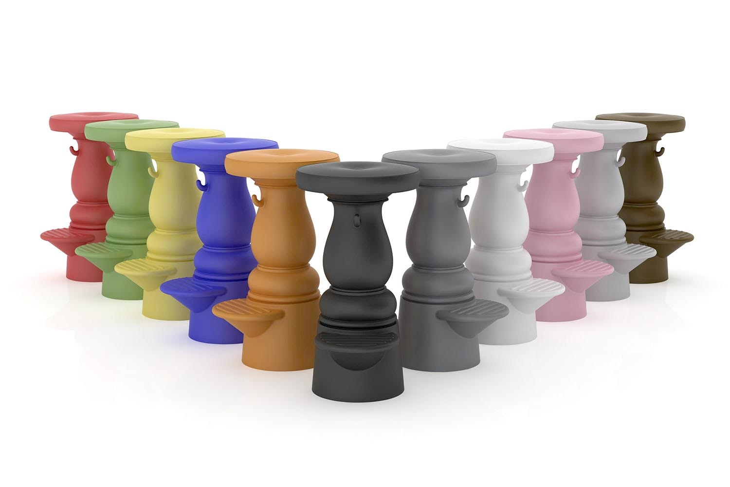 New Antiques Barstool Low by Marcel Wanders for Moooi