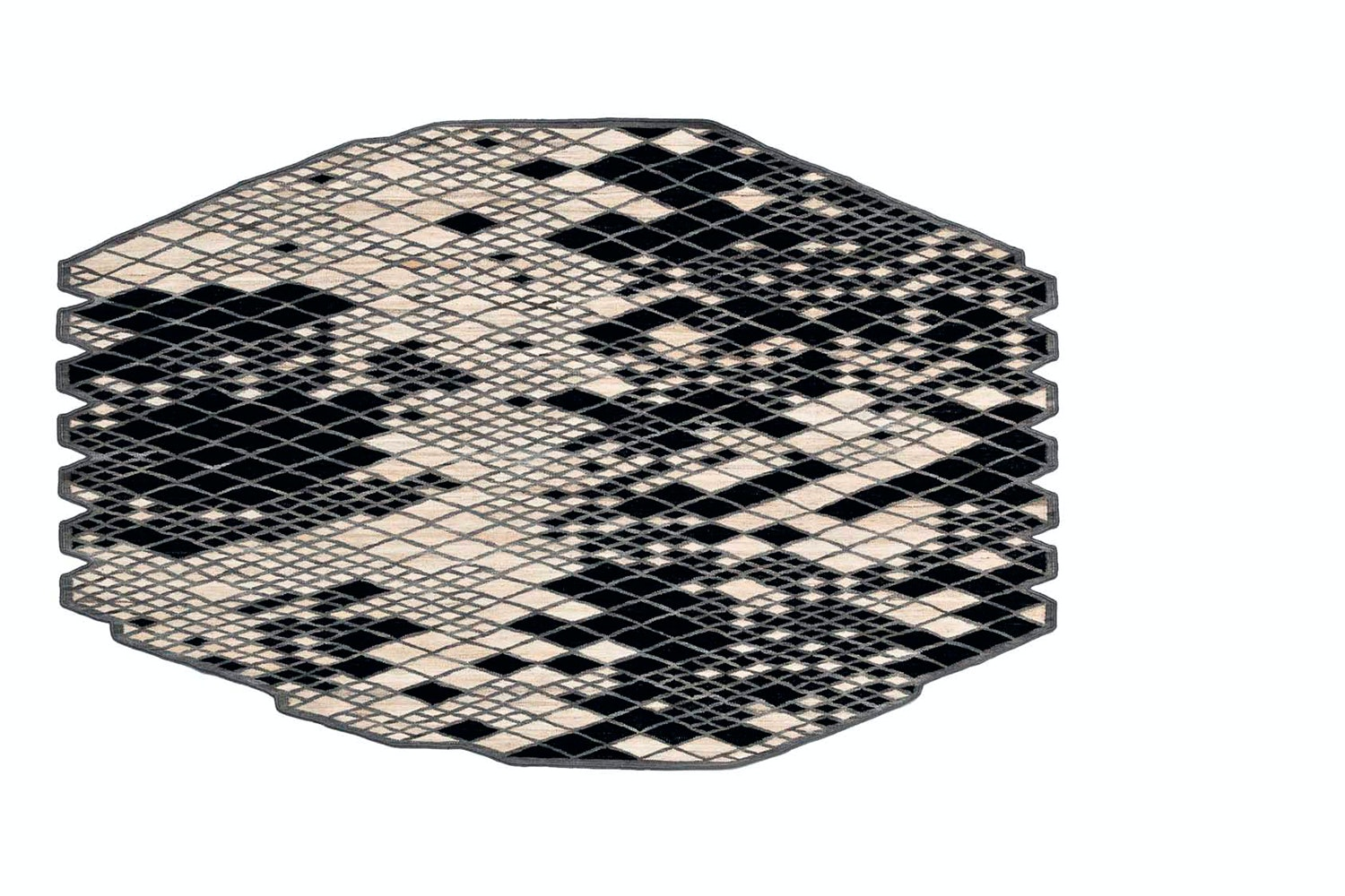 Losanges II Rug 165x245cm by Ronan & Erwan Bouroullec for Nanimarquina