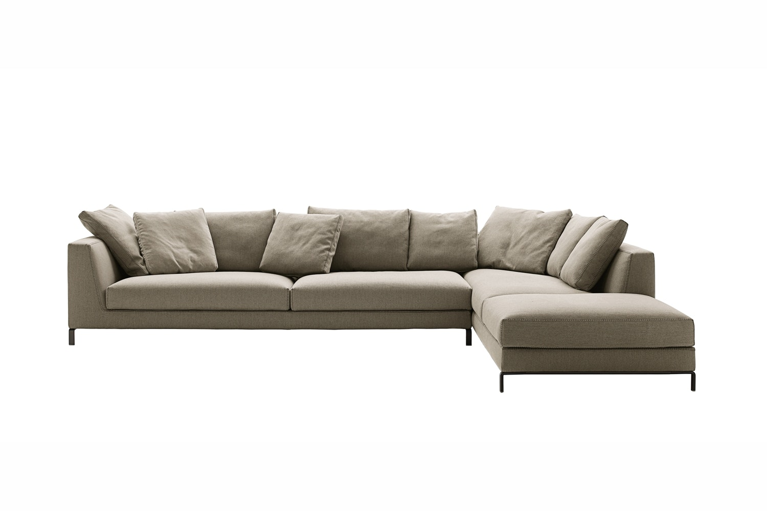 Ray Sofa with Right Chaise in Fabric by Antonio Citterio for B&B Italia