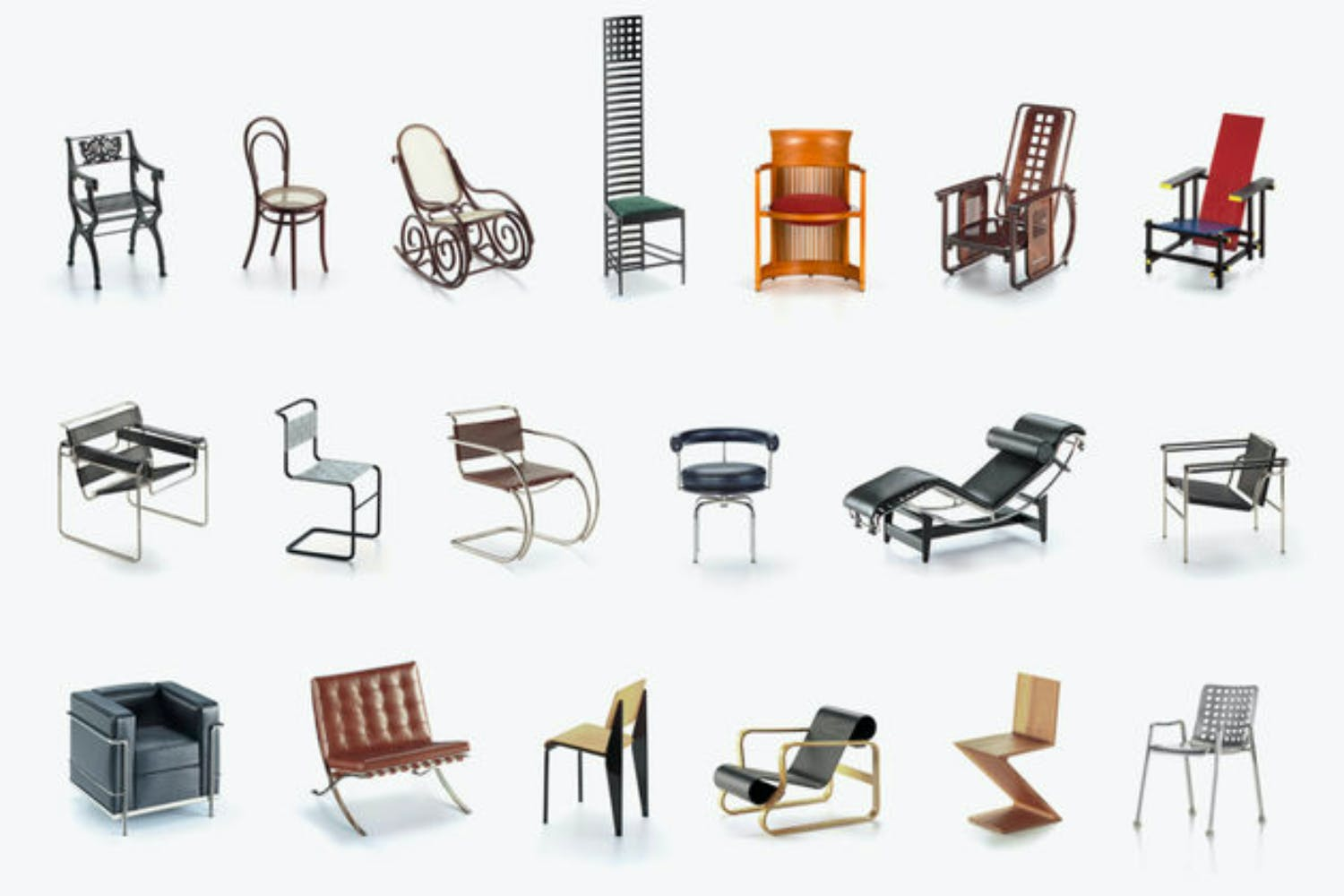 Miniatures collection 1 by vitra design museum for vitra for Mini designer chairs