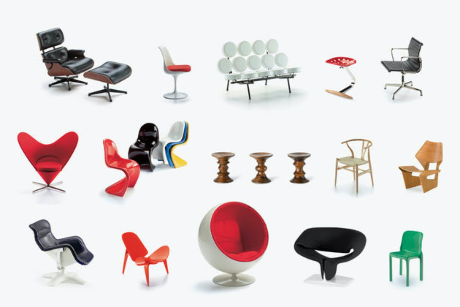 miniatures collection 2 by vitra design museum for vitra. Black Bedroom Furniture Sets. Home Design Ideas