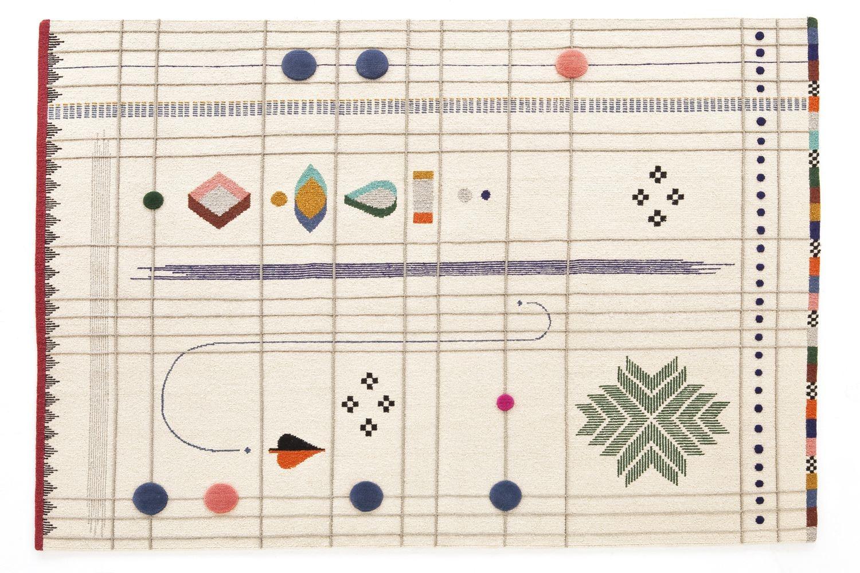 Rabari 1 Rug 200x300cm by Nipa Doshi + Jonathan Levien for Nanimarquina