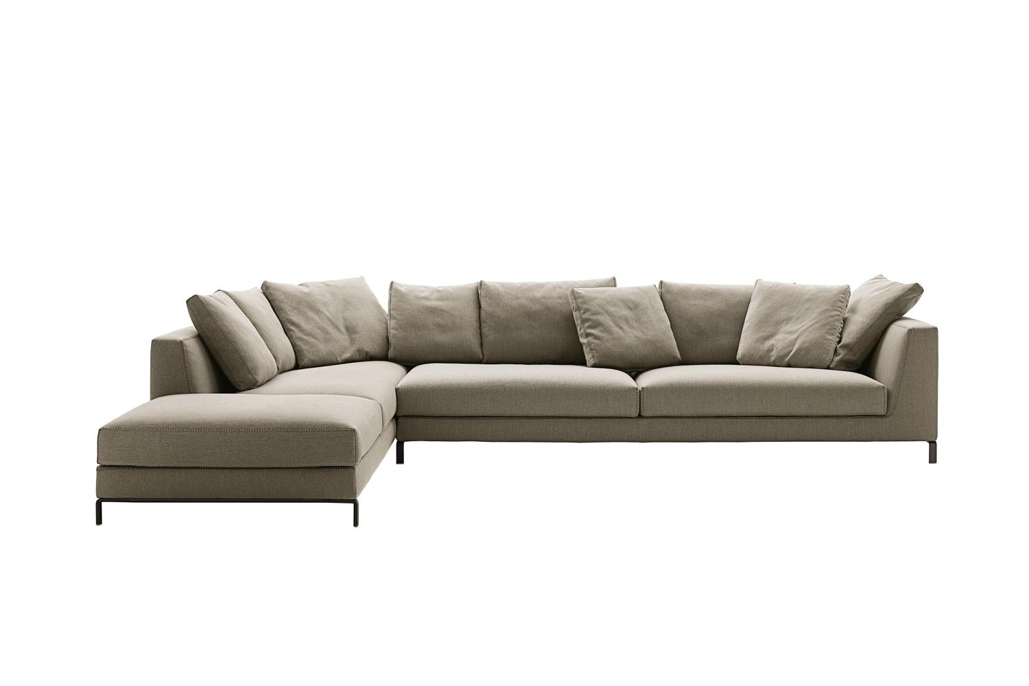 Ray Sofa with Left Chaise in Fabric by Antonio Citterio for B&B Italia