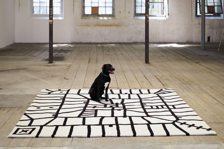 Black on White Limbo by Javier Mariscal + Joaquim Ruiz Millet + Xano Armenter for Nanimarquina