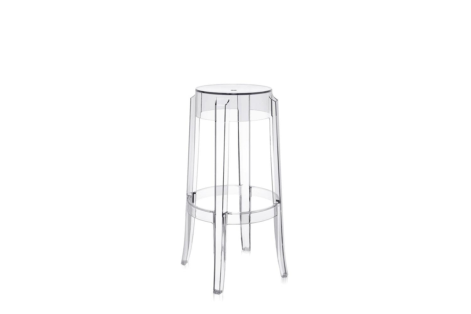 charles ghost high stool by philippe starck for kartell space