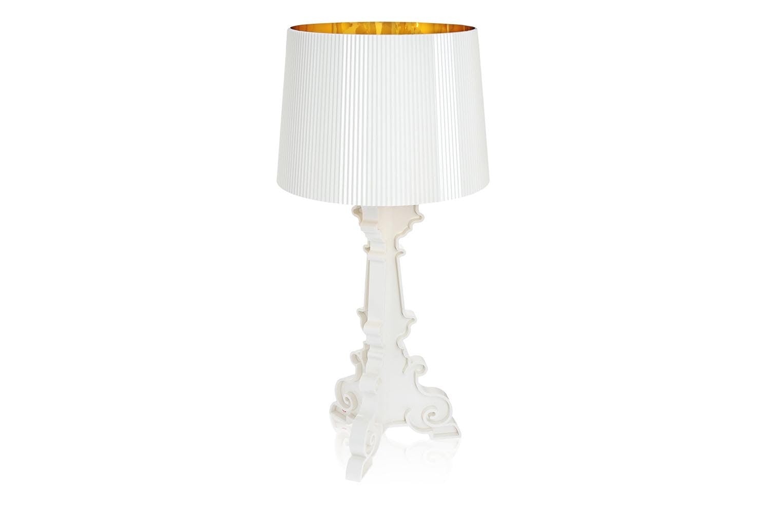 Bourgie white gold table lamp by ferruccio laviani for for Ferruccio laviani bourgie lamp