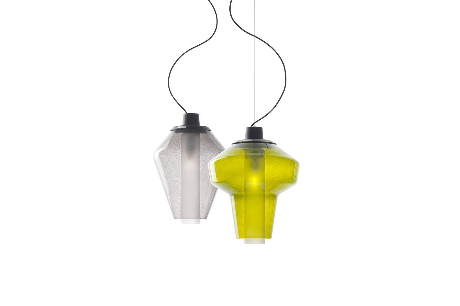 Metal glass 1 suspension lamp by successful living from for Suspension metal