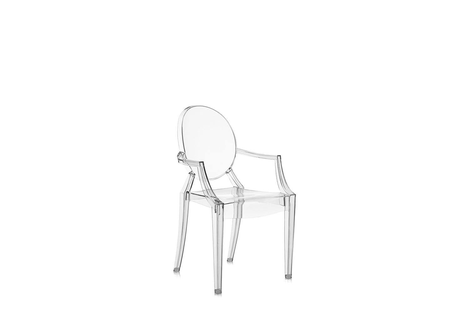 lou lou ghost chair with arms by philippe starck for kartell space