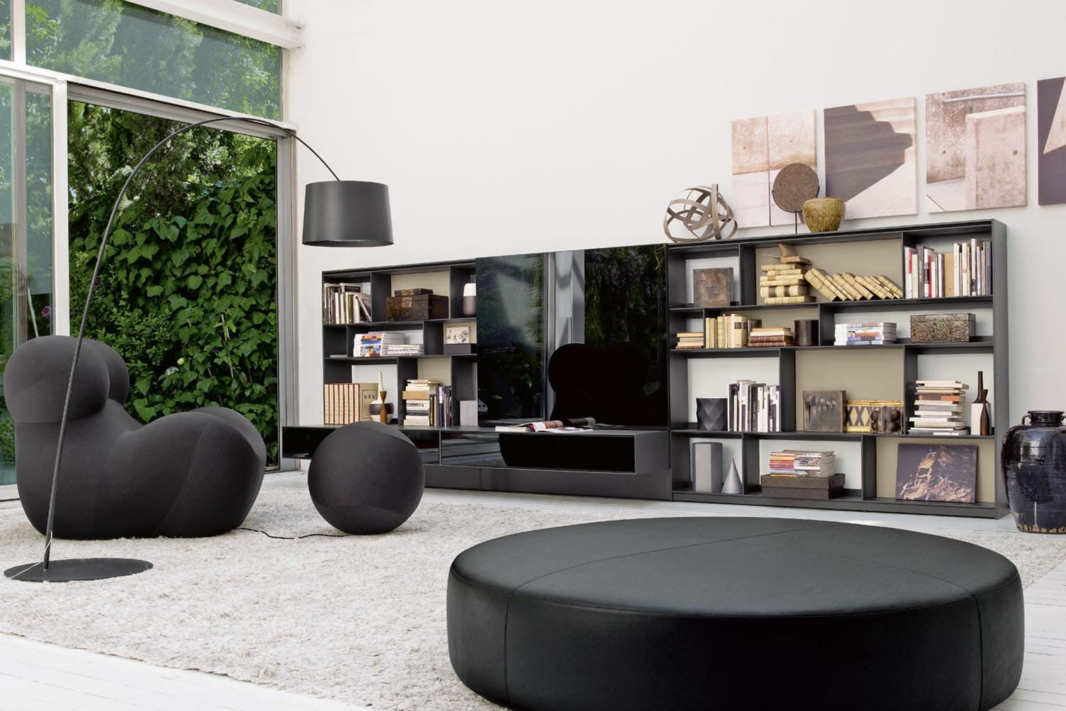 flat c storage unit by antonio citterio for b b italia. Black Bedroom Furniture Sets. Home Design Ideas