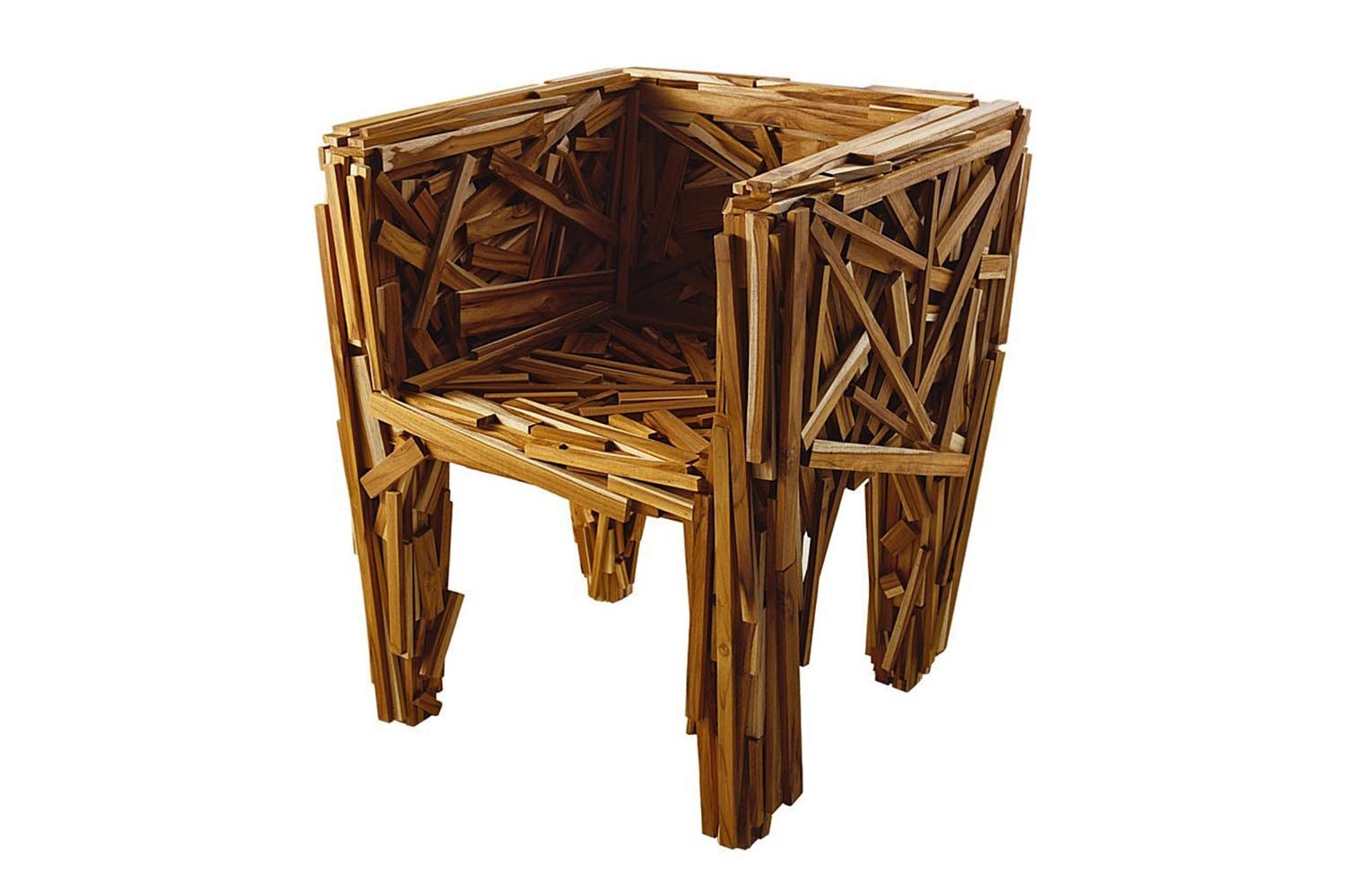 Favela Armchair in Teak by F. e H. Campana for Edra - | Space Furniture