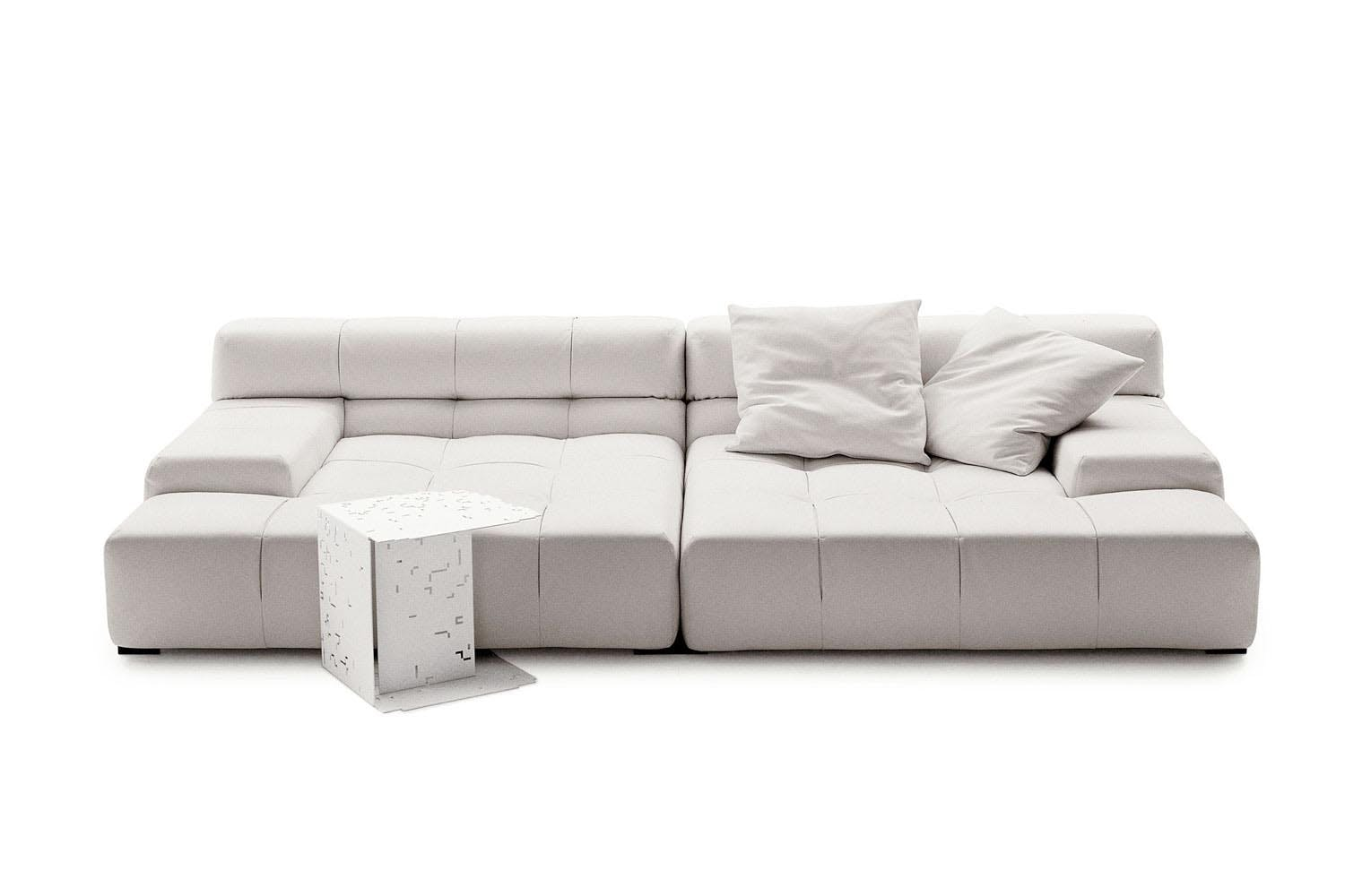 tufty time leather sofa by patricia urquiola for b b. Black Bedroom Furniture Sets. Home Design Ideas
