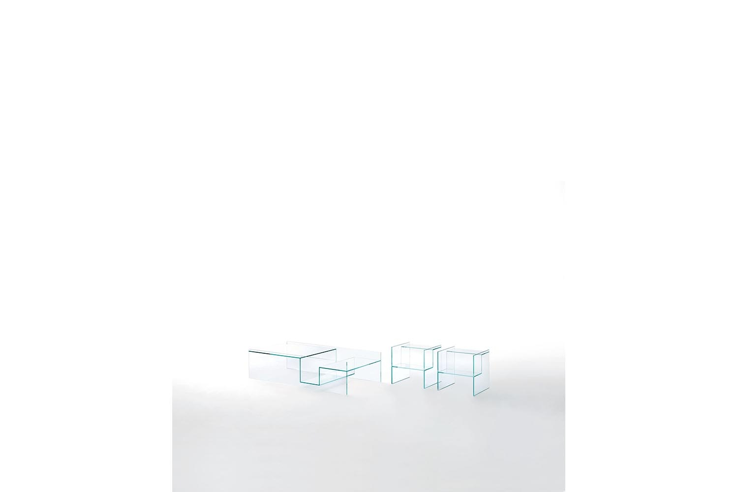Labyrinth Side & Coffee Table by Piero Lissoni for Glas Italia