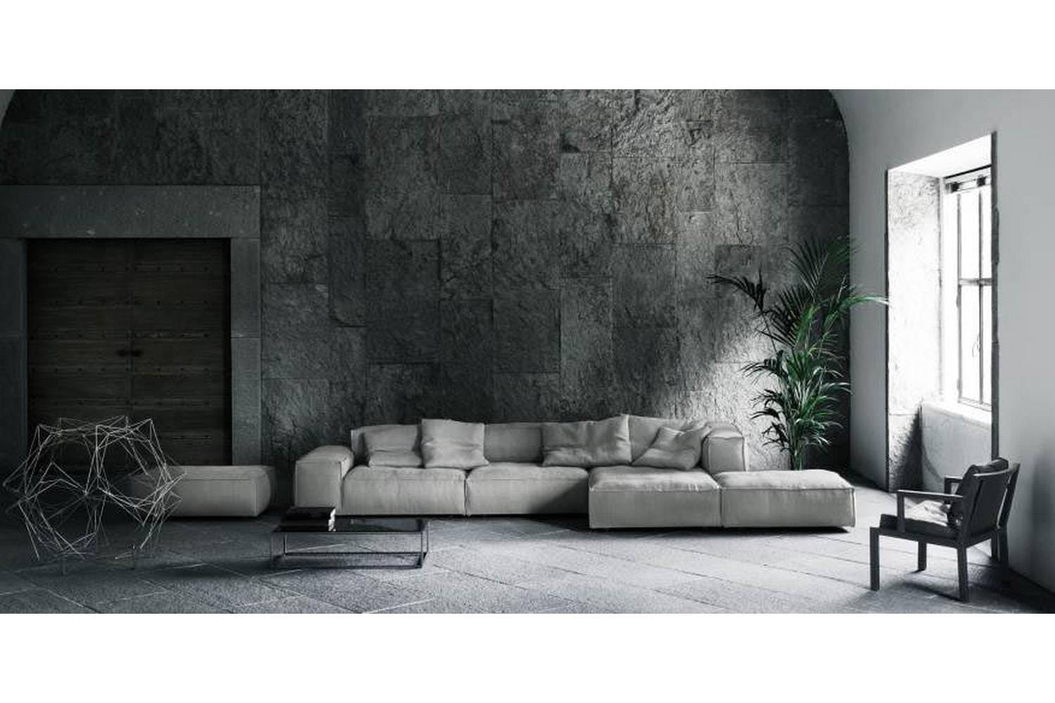 neowall sofa by piero lissoni for living divani space. Black Bedroom Furniture Sets. Home Design Ideas
