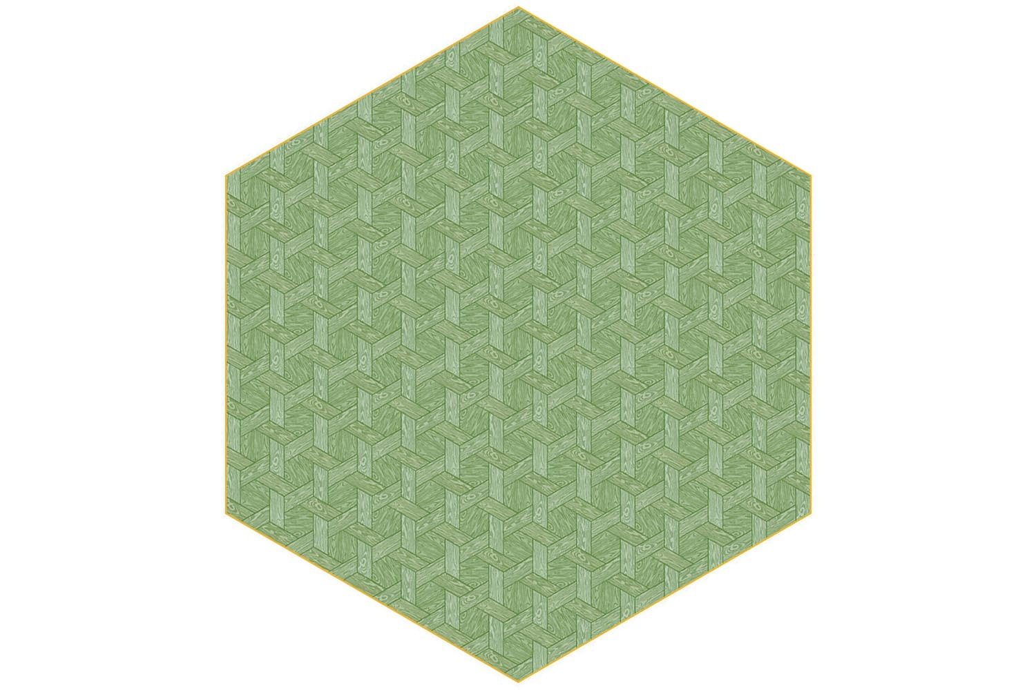 Hexagon Green Rug by Studio Job for Moooi Carpets