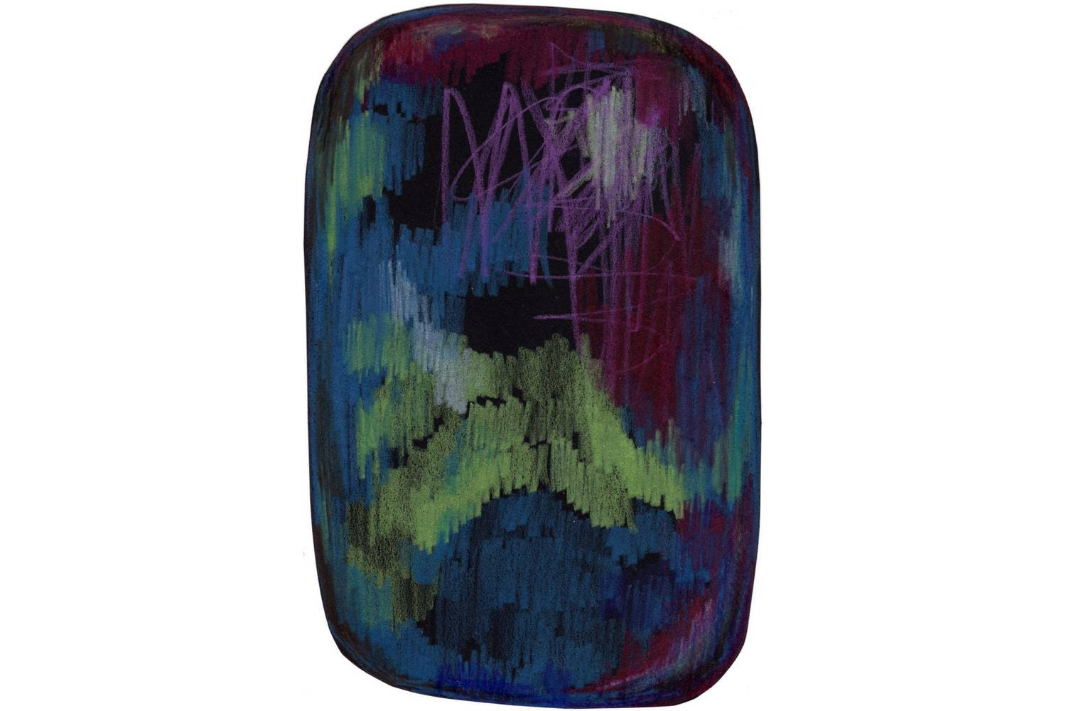 Scribble Black/Green/Blue Rug by Front for Moooi Carpets