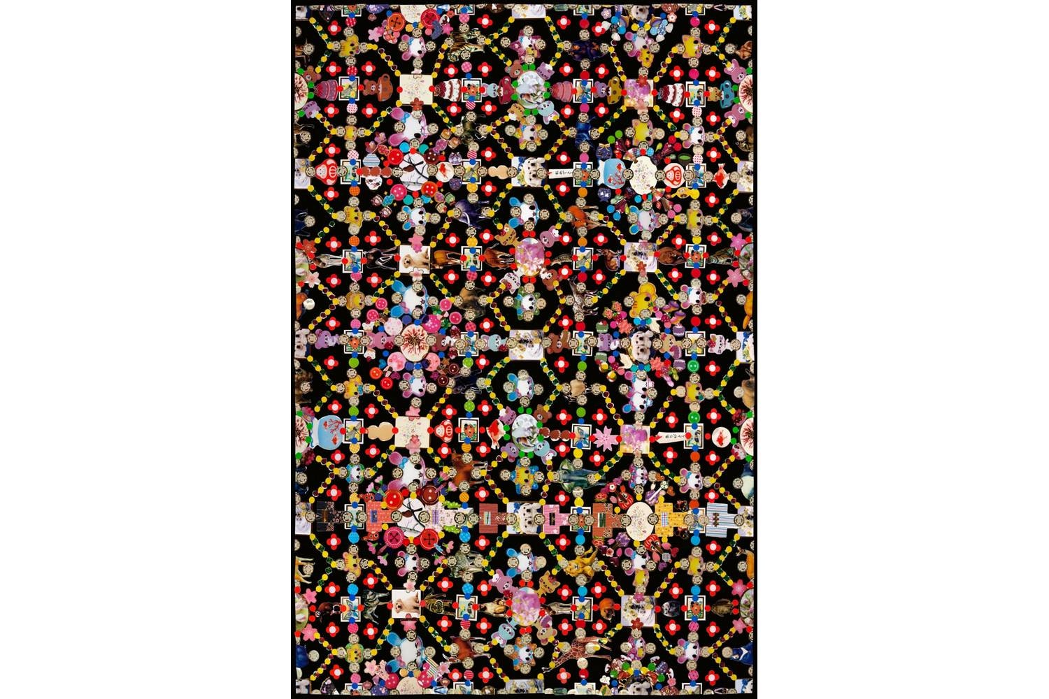 Obsession Black Rug by Marian Bantjes for Moooi Carpets